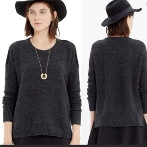 MADEWELL Suede Stripe Texture Sweater XS